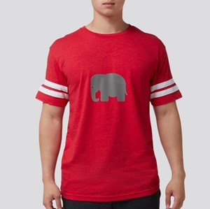 Grey Elephant Silhouette Mens Football Shirt