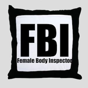 Female Body Inspector Throw Pillow