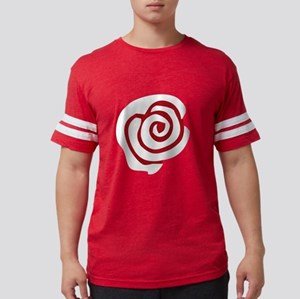 Red White Rose Mens Football Shirt