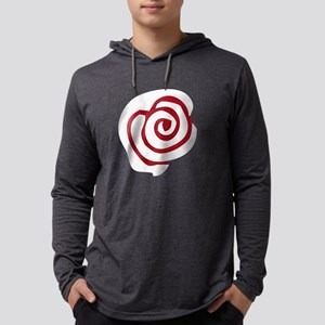 Red White Rose Mens Hooded Shirt