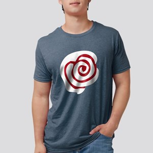 Red White Rose Mens Tri-blend T-Shirt