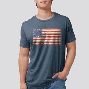 13 Colonies US Flag Distresse T-Shirt
