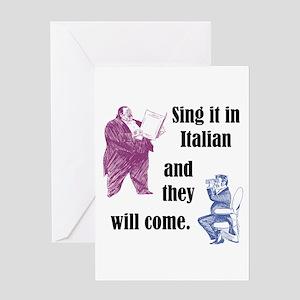 Sing Italian Greeting Card