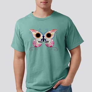 Sugar Skull Multi Color Butterfly Mens Comfort Col