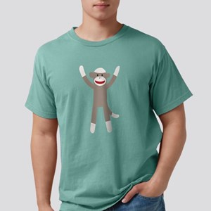 Excited Sock Monkey Mens Comfort Colors® Shirt
