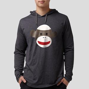 Sock Monkey Face Mens Hooded Shirt