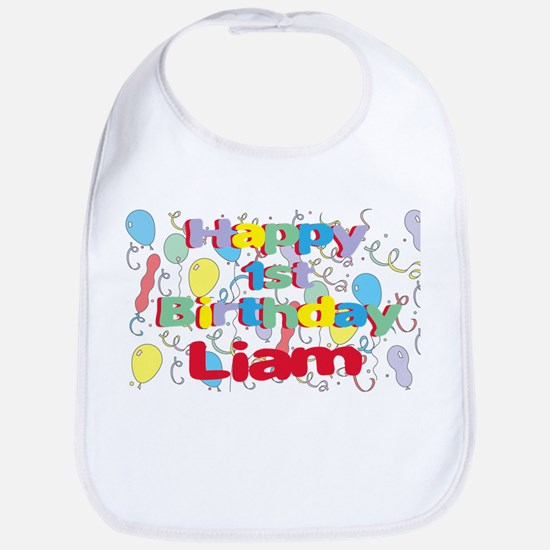 Liam's 1st Birthday Bib