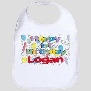 Logan's 1st Birthday Bib