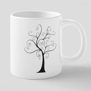 Swirly Tree 20 oz Ceramic Mega Mug