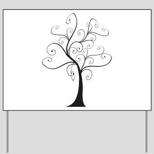 Swirly Tree Yard Sign