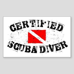 Certified Scuba Diver Rectangle Sticker