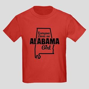Alabama Girl Kids Dark T-Shirt