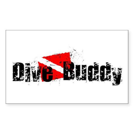 Dive Buddy Rectangle Sticker