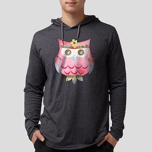 Pink Gypsy Owl Mens Hooded Shirt