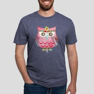 Pink Gypsy Owl Mens Tri-blend T-Shirt