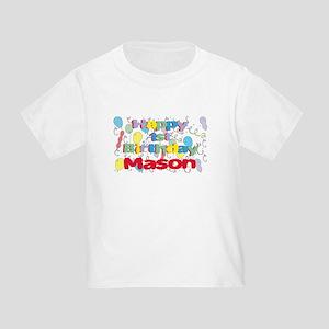 Masons 1st Birthday Toddler T Shirt