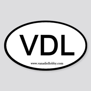 """""""VDL"""" Oval Sticker"""