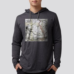 Railroad Map Mens Hooded Shirt