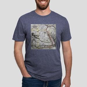 Railroad Map Mens Tri-blend T-Shirt