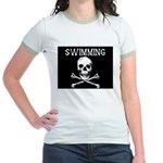 Swimming Pirate Jr. Ringer T-Shirt