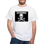 Swimming Pirate White T-Shirt