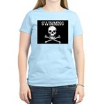 Swimming Pirate Women's Pink T-Shirt
