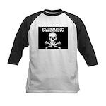 Swimming Pirate Kids Baseball Jersey
