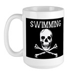 Swimming Pirate Large Mug