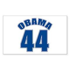 OBAMA 44 44th President Rectangle Sticker 10 pk)