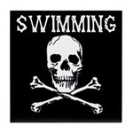Swimming Pirate Tile Coaster