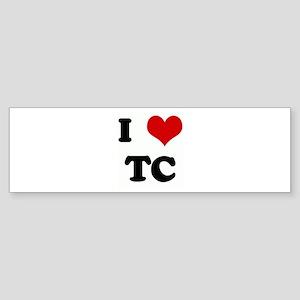 I Love TC Bumper Sticker