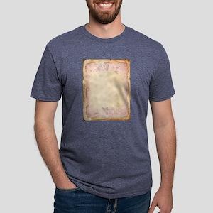 Vintage Rose Frame Mens Tri-blend T-Shirt