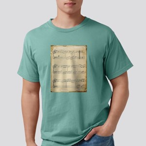 Vintage Music Sheet Mens Comfort Colors® Shirt