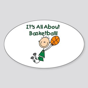 All About Basketball Oval Sticker