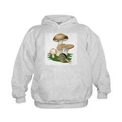 Snail in Mushroom Garden Hoodie