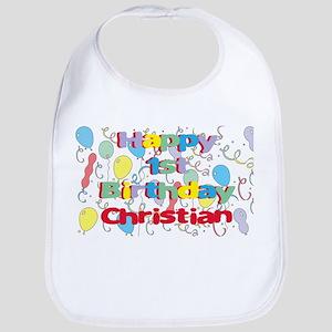 Christian's 1st Birthday Bib