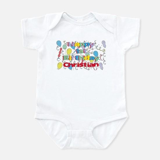 Christian's 1st Birthday Infant Bodysuit