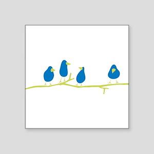 BLUEBIRDS ON A TWIG Sticker
