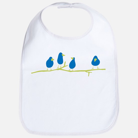 BLUEBIRDS ON A TWIG Baby Bib