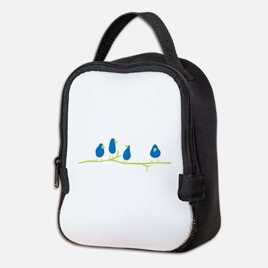 BLUEBIRDS ON A TWIG Neoprene Lunch Bag