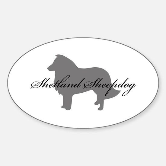 Shetland Sheepdog Oval Decal