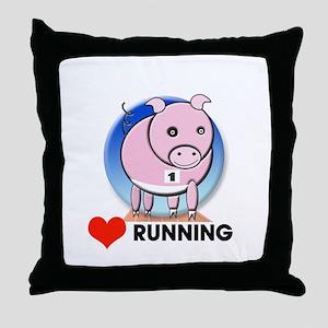 running Throw Pillow