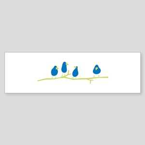 BLUEBIRDS ON A TWIG Bumper Sticker