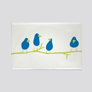 BLUEBIRDS ON A TWIG Magnets