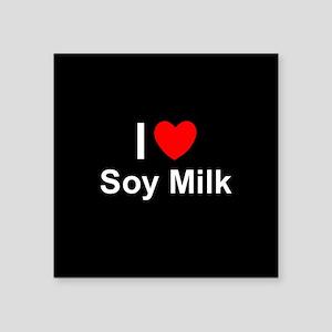 "Soy Milk Square Sticker 3"" x 3"""
