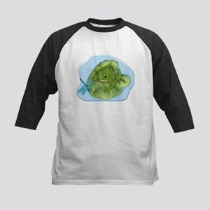 Frog and Dragonfly Kids Baseball Jersey