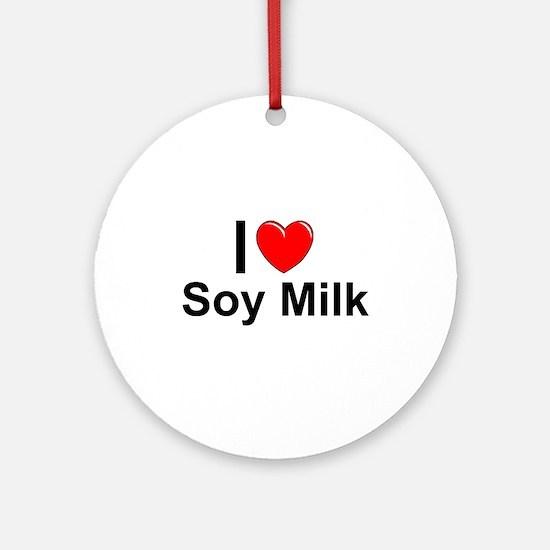 Soy Milk Round Ornament