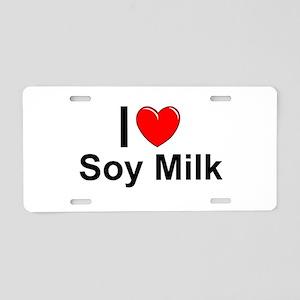 Soy Milk Aluminum License Plate