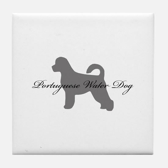 Portuguese Water Dog Tile Coaster