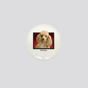 Poodle Mini Button